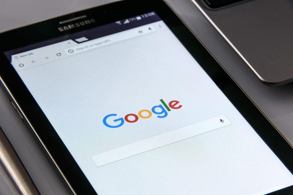 Configuración de privacidad de Google.