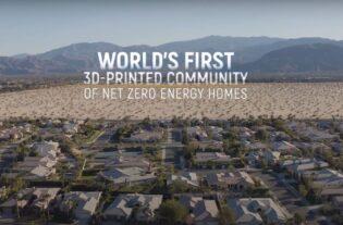 Se prepara la construcción de un complejo de casas en 3D.
