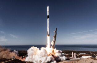 Restos del cohete SpaceX Falcon 9