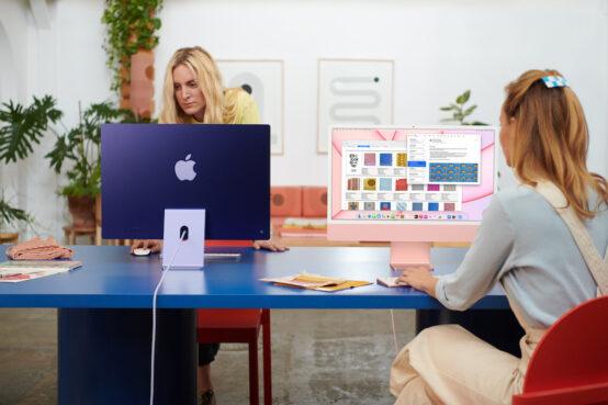 iMac 2021 en el trabajo