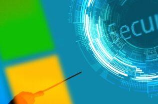 Seguridad informática con colores de Microsoft