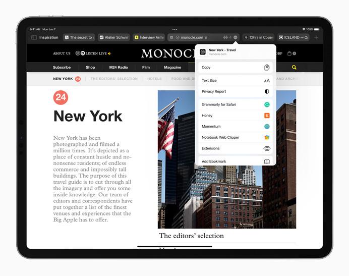 iPadOS 15 con Safari