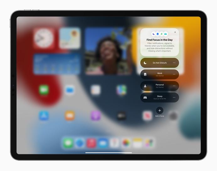 iPadOS 15: herramientas de concentración.