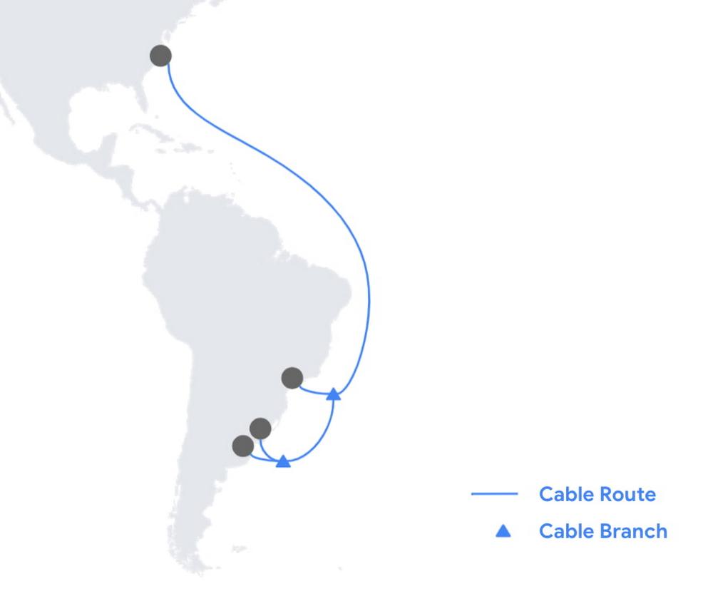 Cable submarino de Google.