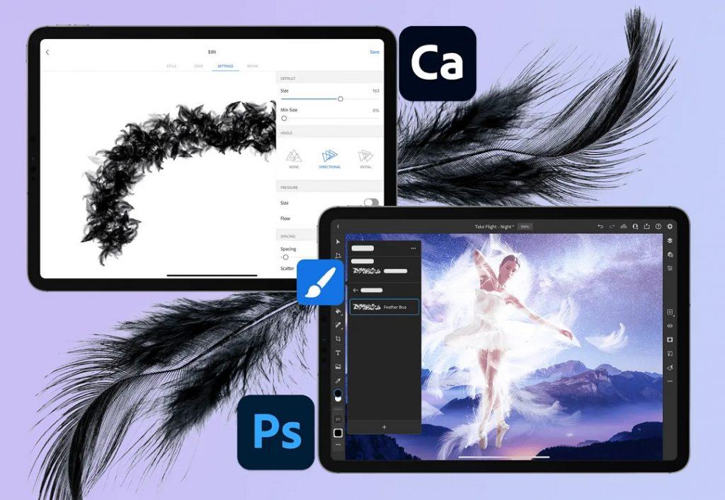 Nuevas funciones Adobe: pinceles personalizados.