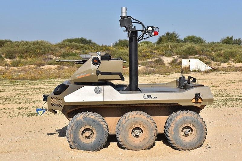 Robots con ametralladoras en Israel.