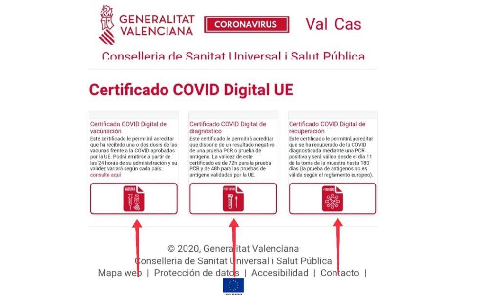 Certificado COVID de la UE en Tablet o iPad.