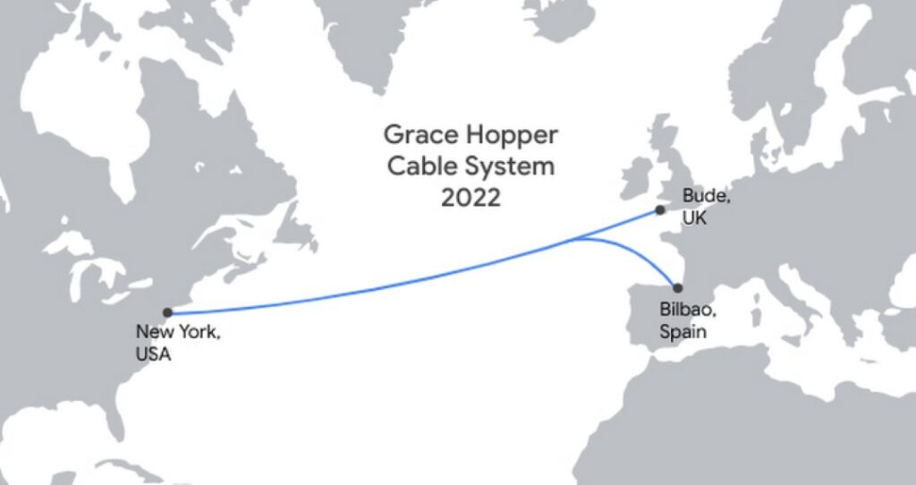 Cable submarino de Google Grace Hopper