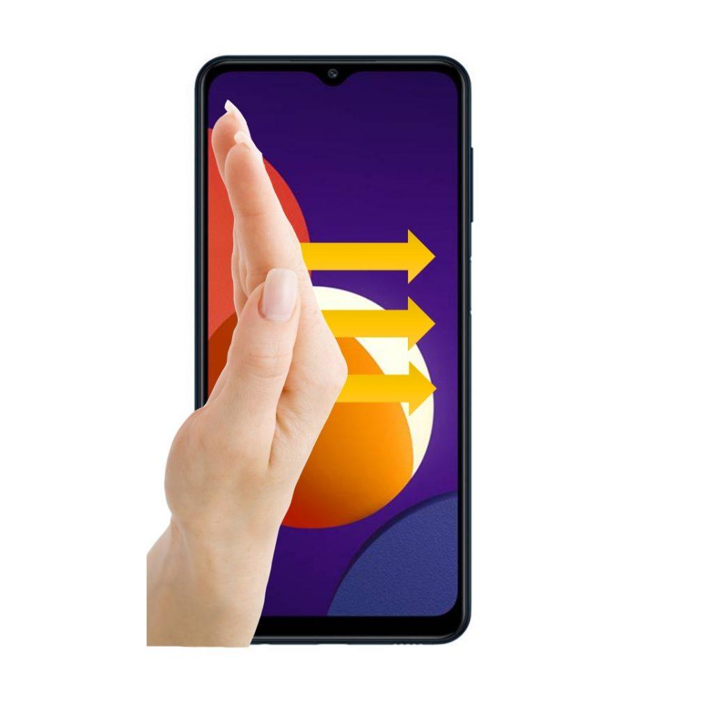 Captura de pantalla con gesto en Samsung Galaxy M12