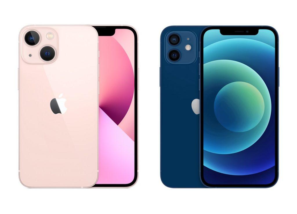 Iphone 13 y iPhone 12.